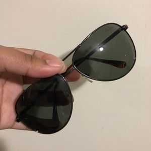 Cole Haan Black Aviator Sunglasses